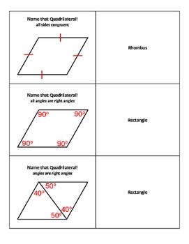 Name that Parallelogram Quiz-Quiz-Trade