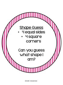 Name that Shape!