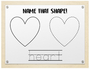 Name that Shape - Color, Trace, Practice Writing.