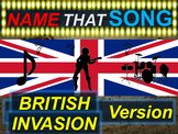 Name that Song, Artist, Genre BRITISH INVASION (interactive music guessing game)