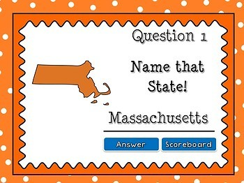 Name that State - Identifying States Powerpoint Game #2