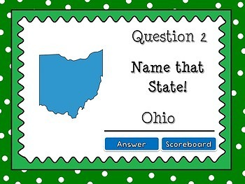 Name that State - Identifying States Powerpoint Game #4