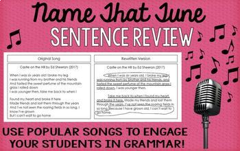 Name that Tune: Sentence Review (Simple, Compound and Comp