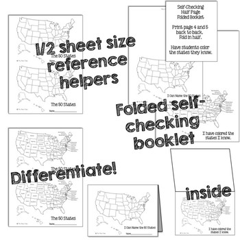Name the 50 State Task Cards - 50 States Naming Task Card Set & More!