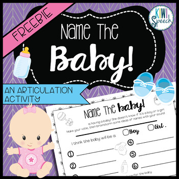 Name the Baby! Articulation Activity {FREEBIE}