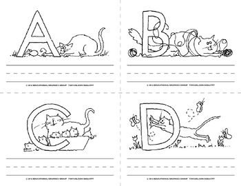 "Name the Alpha-Cats in Black/White - 4.25"" x 5.5"""