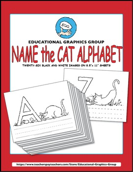"""Name the Alpha-Cats in Black/White - 8.5"""" x 11"""""""