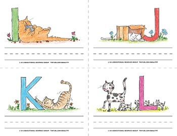 "Name the Alpha-Cats in Color - 4.25"" x 5.5"""