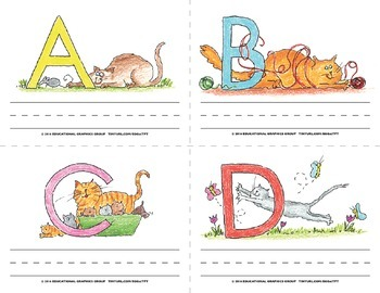 """Name the Alpha-Cats in Color - 4.25"""" x 5.5"""""""