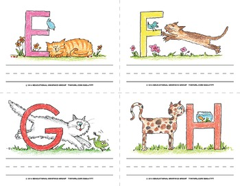 "Name the Alpha-Cats in Color - 4.25"" x 5.5"" BUNDLE"