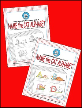 """Name the Alpha-Cats in Color - 4.25"""" x 5.5"""" BUNDLE"""
