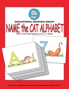 """Name the Alpha-Cats in Color - 8.5"""" x 11"""""""