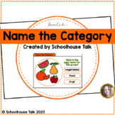Name the Category Boom Cards ™ for Distance Learning Speec