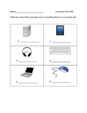 Name the Computer Part Worksheet (No Word Bank)