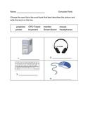 Name the Computer Parts Worksheet