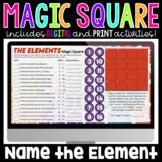 Name the Element Digital Magic Square | Science Magic Squares