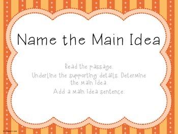 Name the Main Idea - Short Passages - RI.2