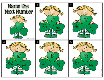 Name the Next Number {St. Patty's Day Freebie}
