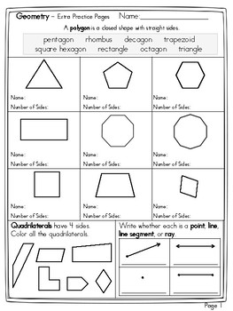 name the polygon and decompose shapes by math tech connections tpt. Black Bedroom Furniture Sets. Home Design Ideas