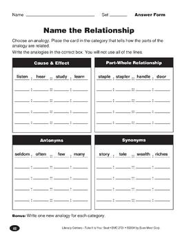 Name the Relationship (Analogies)