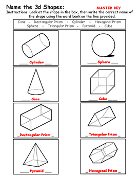 Name the Shapes 2D and 3D -