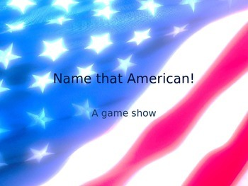 """""""Name this American"""" photographs"""