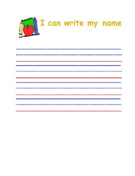 Name writing practice sheets by GINISA CRUZ | Teachers Pay Teachers
