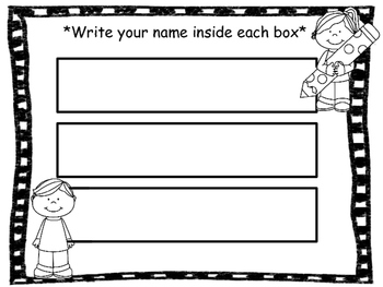 Name writing/tracing practice