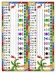 Nameplate Desk Topper - By the Beach - ASL, Number line, Beginning Sound Picture