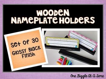 Nameplate Holders (Wooden/Glossy Black Finish)