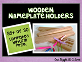 Nameplate Holders (Wooden/Unfinished)