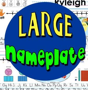 Nameplate Tag Alphabet Manuscript Cursive World Fractions