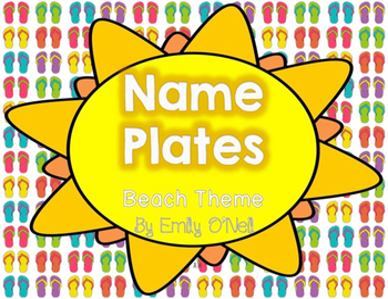 Nameplates (Beach Theme)