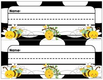 Nameplates (Bee Theme)