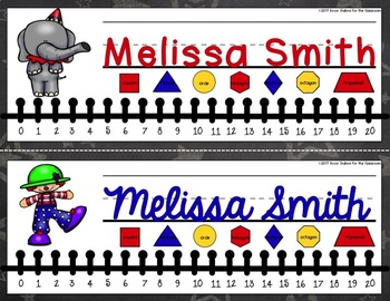 Nameplates - Carnival / Circus Decor EDITABLE