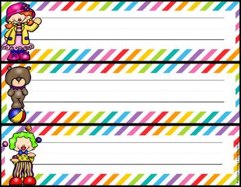 Nameplates- Circus Theme