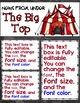 Newsletter EDITABLE Text - Carnival / Circus Decor