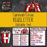 Newsletter EDITABLE Text - Carnival / Circus Decor