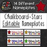 Nameplates EDITABLE - Chalkboard Stars Decor