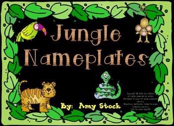 Nameplates:  Jungle theme