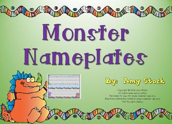 Nameplates:  Monster theme
