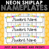 Nameplates - Neon Shiplap