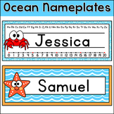 Ocean Theme Classroom Decor - Name Plates - Under the Sea Theme