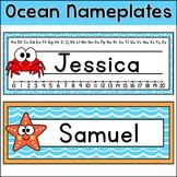 Ocean Classroom Decor Desk Name Plates - Under the Sea Theme