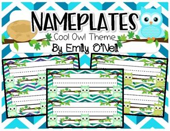 Nameplates (Owl Theme)