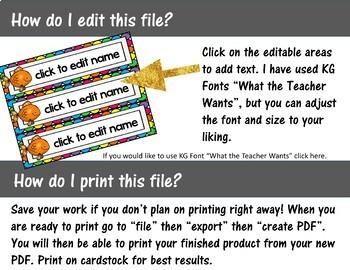 Editable Nameplates - Pet Themed