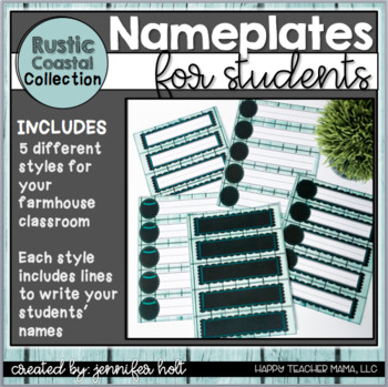 Nameplates {Rustic Coastal}