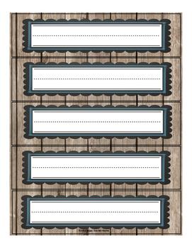 Nameplates {Rustic Wood}
