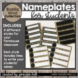 Nameplates (Farmhouse Rustic Wood)