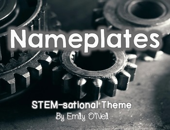 Nameplates (STEM-sational Theme)